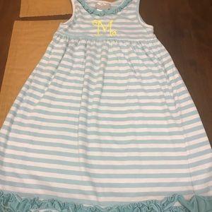 Girls sleeveless cotton Monogram M dress